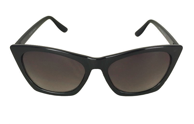 Sort cat eye solbrille med kant