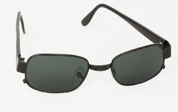 Sort metal solbrille