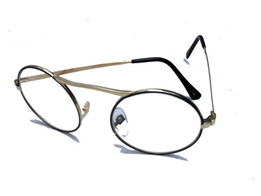 7d76d0dc23ad Rund brille med klart glas
