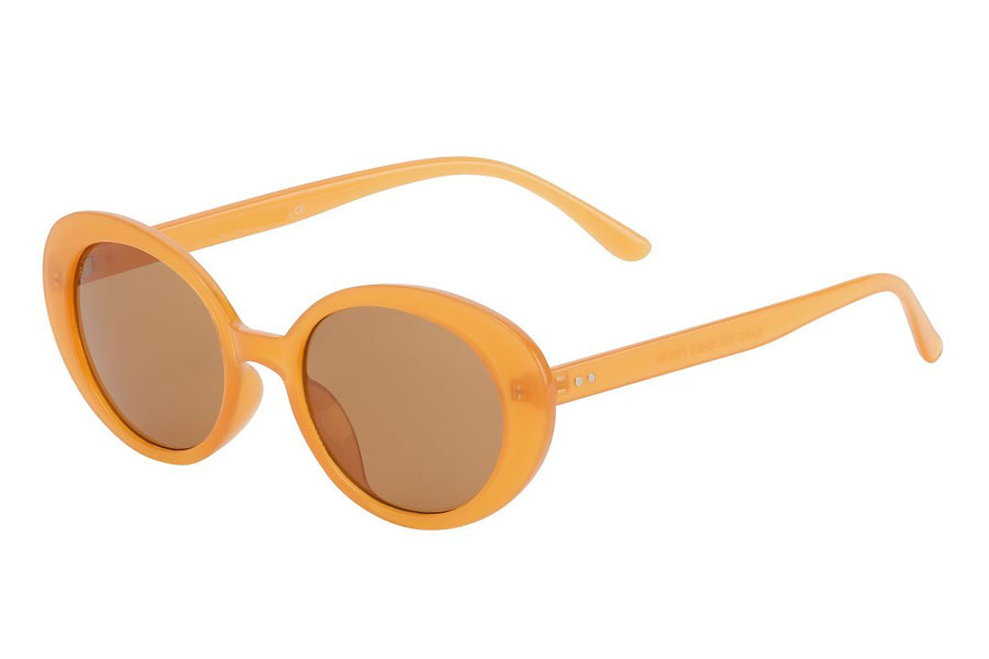 Smokey-orange farvet flower power hippie solbrille