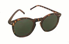 cf8a0df5b097 Mat leopardbrun runde solbrille - Design nr. 3266
