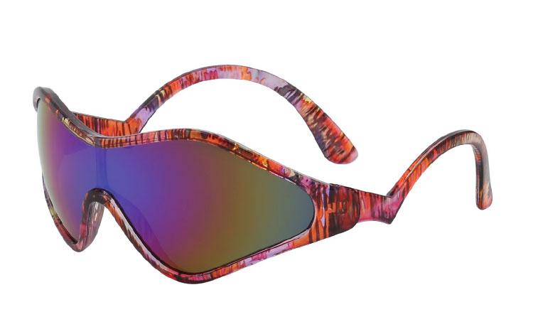 210addb59ebc Vilde retro farvede ski solbriller - Design nr. 3421