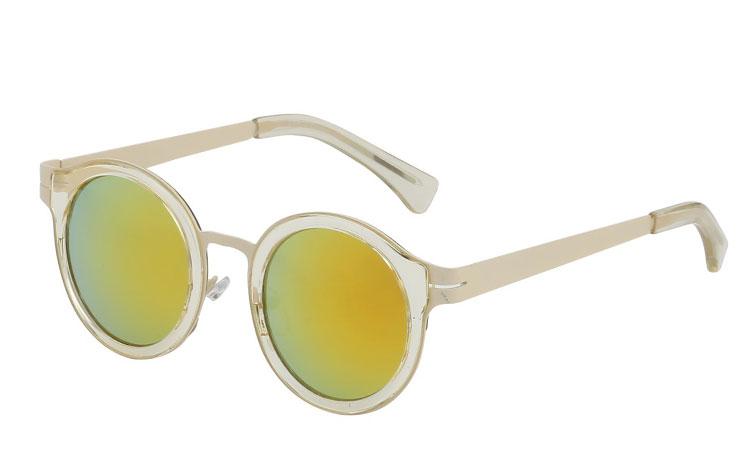 1e5600b0c960 Pastelfarvet solbrille i lys creme-hvid - Design nr. 3434