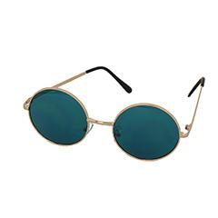 57e0aeb13ef2 Rund solbrille med tyrkis glas - Design nr. 1001