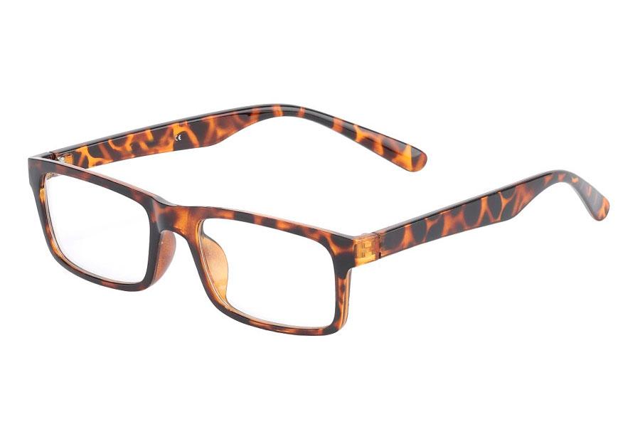 d4ea365e1427 Skildpaddebrun brille med klart glas - Design nr. 3015