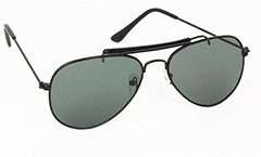 Sort aviator solbrille