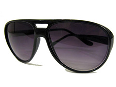 Aviator solbrille i sort