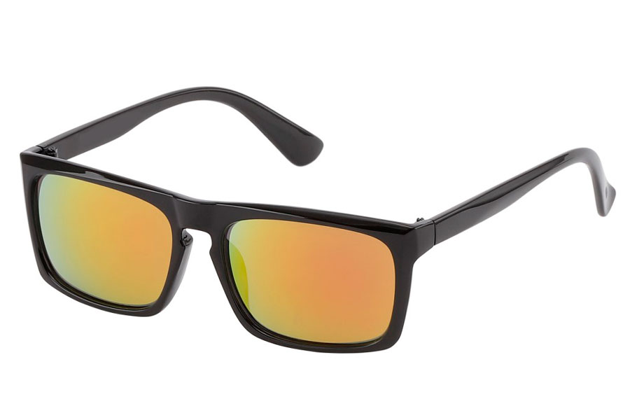 1d4fa156eca1 Hurtigbrillen. Sort med spejlglas i orange-røde nuancer. - Design nr. 3816