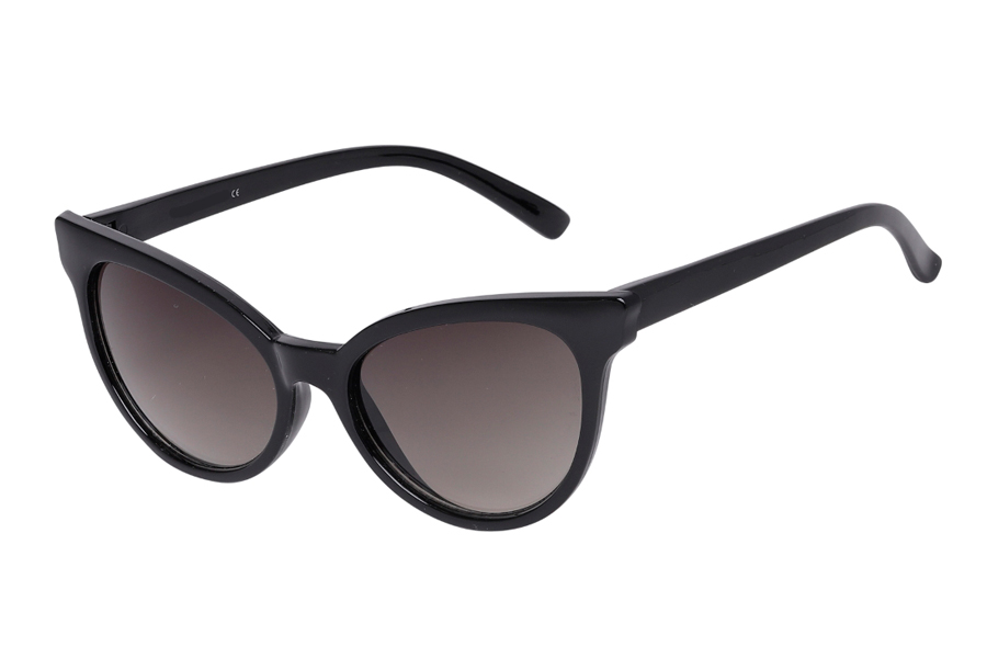 Feminin cat-eye solbrille i let design. - Design nr. s3974