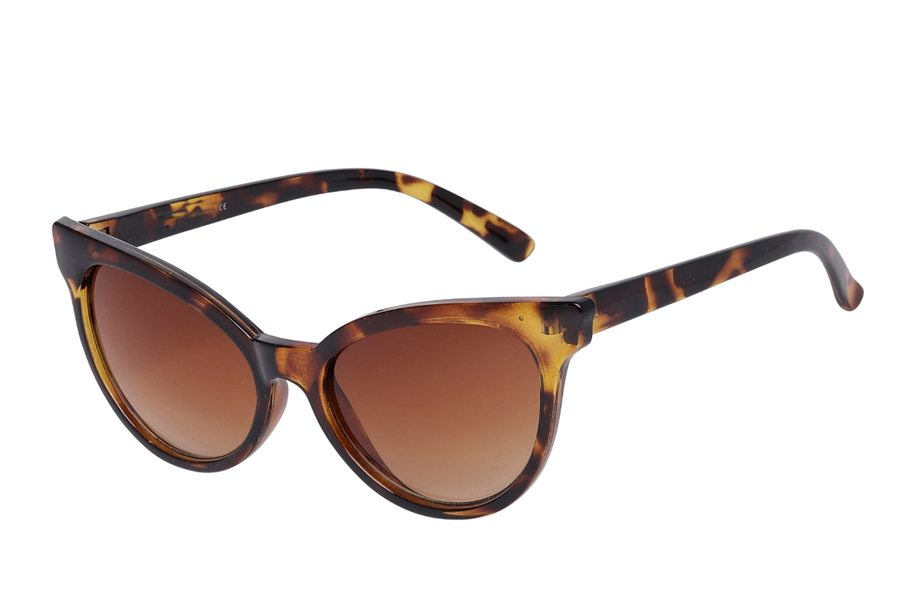 Feminin cat-eye solbrille i let design - Design nr. s3975