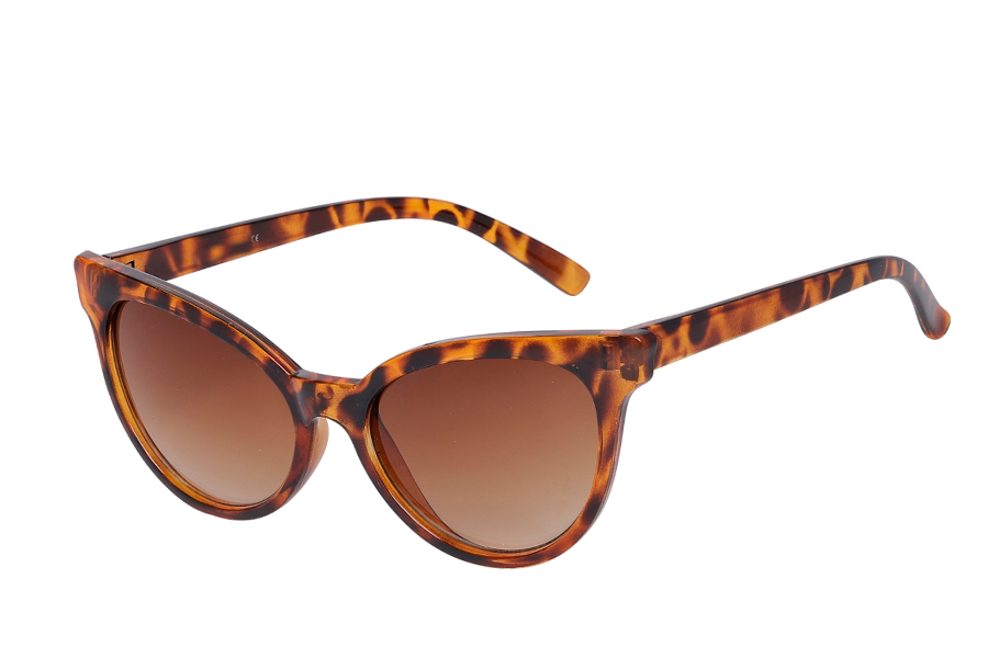 Feminin cat-eye solbrille i let design - Design nr. s3977