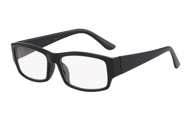 Sort brille med klart glas - Design nr. 403